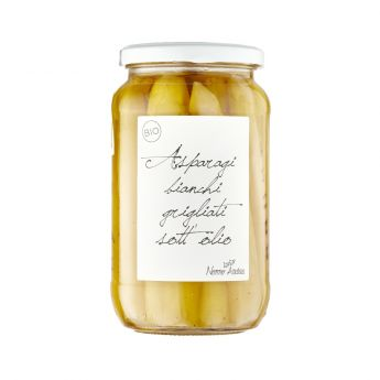 Nonno Andrea - Biological white Asparagus in organic oil